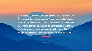 "Quote Symbol Enchanting Stephen R Covey Quote ""We Value The Clock For Its Speed And"