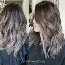 Light Ash Brown With Highlights Light Ash Brown Highlighted Balayage Hair Silver Ombre