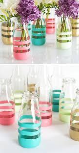 Creative Idea:Beautiful Pained Jar Flowers Vase Ideas Beautiful Pained Jar  Flowers Vase Ideas