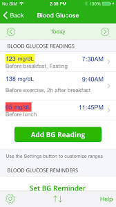 Tracking Blood Sugar Levels The Best Iphone Diabetes Tracker App Mynetdiary