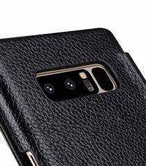 melkco premium leather case for samsung galaxy note 8 face cover book type black
