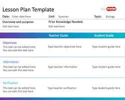 Free Simple Lesson Plan Template For Powerpoint - Free Powerpoint ...