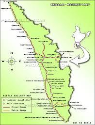 Indian Railway Route Chart Kerala Railway Map Railway Map Of Kerala Main Railway