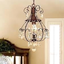 af lighting elements crystal teardrop mini chandelier laurel creek brushed oak 1 light