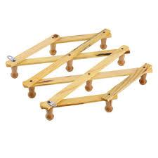 Solid Wood Coat Rack Solid Wooden Hanger Expandable Wooden Coat Rack Hat Hook Expanding 33