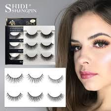 <b>SHIDISHANGPIN</b> 3 pairs <b>mink eyelashes</b> natural fake eye <b>lashes</b> ...