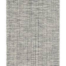 marled indigo cotton woven rug