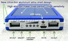 diy portable solar battery bank solar charger and battery solar panel dual led charging ports power