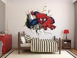 spiderman wall hole wall decal decor