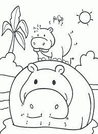 Kleurplaat Van Een Nijlpaard 1 10 Thema Met De Jeep Door Het In