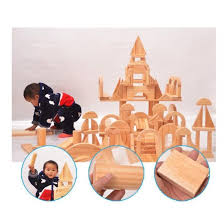 natural wood geometric building blocks child educational gift toy for toddlers