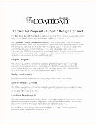 Proposal Contract Templates Freelance Contract Sample Elegant Pr Proposal Lovely Graphic Design 18