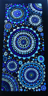 beautiful blue circles mosaic window panel by lowlightcreations 350 00
