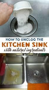 kitchen sink clogged unclog sink