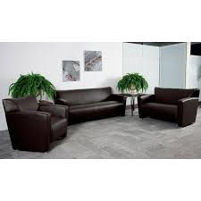 hercules majesty series brown leather sofa 222 3
