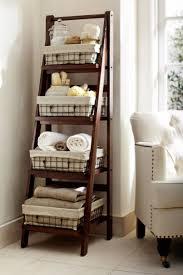 Bathroom Dark Wooden Corner Ladder Towel Rack With Bathroom Along With  Interesting Ladder Towel Rack (
