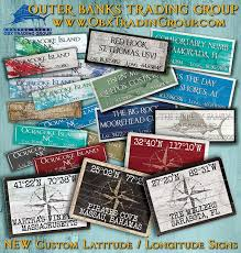 new custom latitude longitude signs