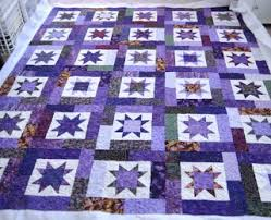 All Things Quilty and Artsy: Purple Lucky Stars & This one was made from the Lucky Stars pattern by Atkinson. This is a fat  quarter pattern that is very forgiving to make, since the star points do  not end ... Adamdwight.com