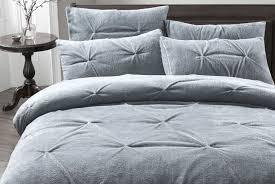 pintuck teddy fleece bedding set offer