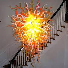 blown glass chandelier amazing blown glass chandelier the anemone hand blown glass chandelier blown glass