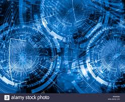 Technology Background Concept Abstract Blue Background