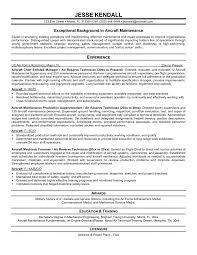 Aircraftintenance Technician Resume Sample Building Electrical