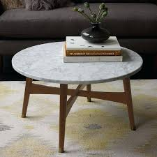 marble round coffee table marble round coffee table awesome reeve mid century west elm with regard marble round coffee table