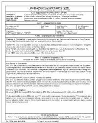 Da Form 4856 Financial Counseling Example
