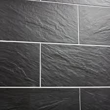 grey slate kitchen wall tiles. nain black slate effect tiles on a wall grey kitchen i