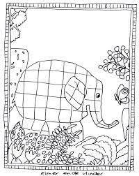 Kleurplaat Elmer 學習單 Pinterest School