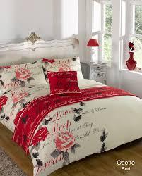 odette bed in a bag duvet cover set single red