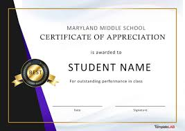 Best Performance Award Certificate 30 Free Certificate Of Appreciation Templates And Letters
