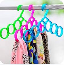 Shopais Single Line Acrylic Hanger Plastic Ring Hanger For Scarf ...