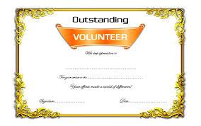Volunteer Certificate Of Appreciation Templates Volunteer Certificates Templates Under Fontanacountryinn Com