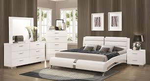 Furniture:Felicity Bedroom Set W Jeremaine Bed White Coaster Furniture Co Q  Br Set Beautiful