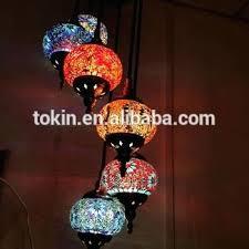 turkish hanging lamp new handicraft mosaic art hanging lamps made in china chandelier 5 set