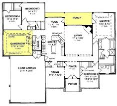 655799  1 Story Traditional 4 Bedroom 3 Bath Plan With 3 Car Four Car Garage House Plans