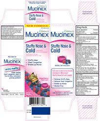 childrens mucinex stuffy nose and cold