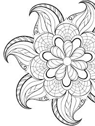 A Flower Coloring Page Simple Flower Coloring Pages For Adults