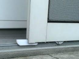 replace sliding door track removing a pocket door attractive sliding screen door track with patio bottom
