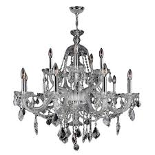 worldwide lighting provence collection 15 light polished chrome crystal chandelier