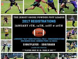 powder puff football flyers registration begins soon for jersey shore powder puff football