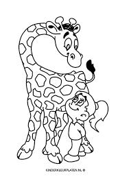 Kleurplaat Giraffe Dierentuin Dieren