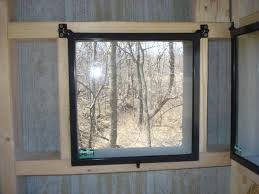 Deer Blind Window  Hunting  Pinterest  Deer Hunting Deer Blind Plexiglass Deer Blind Windows