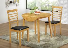 Cushion Flooring Kitchen Appealing Round Chocolate Black Wooden Drop Leaf Kitchen Table