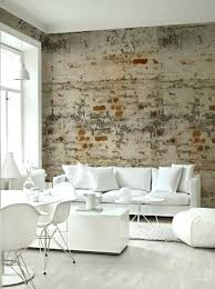 wallpaper ideas for living room brick wallpaper as of chic rustic accent in modern apartment part