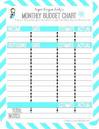 Free Printable Monthly Budget Free Printable Monthly Budget Template Expense Chart Excel Uk