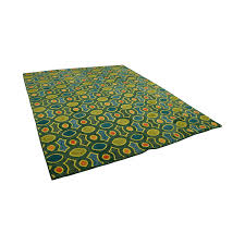 obeetee obeetee hand hooked green orange blue rug for