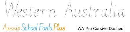 Western Australian Modern Cursive Style Wa Cursive And Running Writing Fonts For Wa Schools Edalive Educational Software