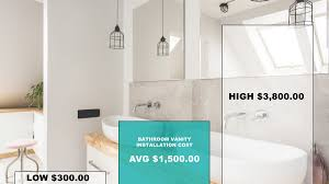 how much does bathroom vanity installation cost